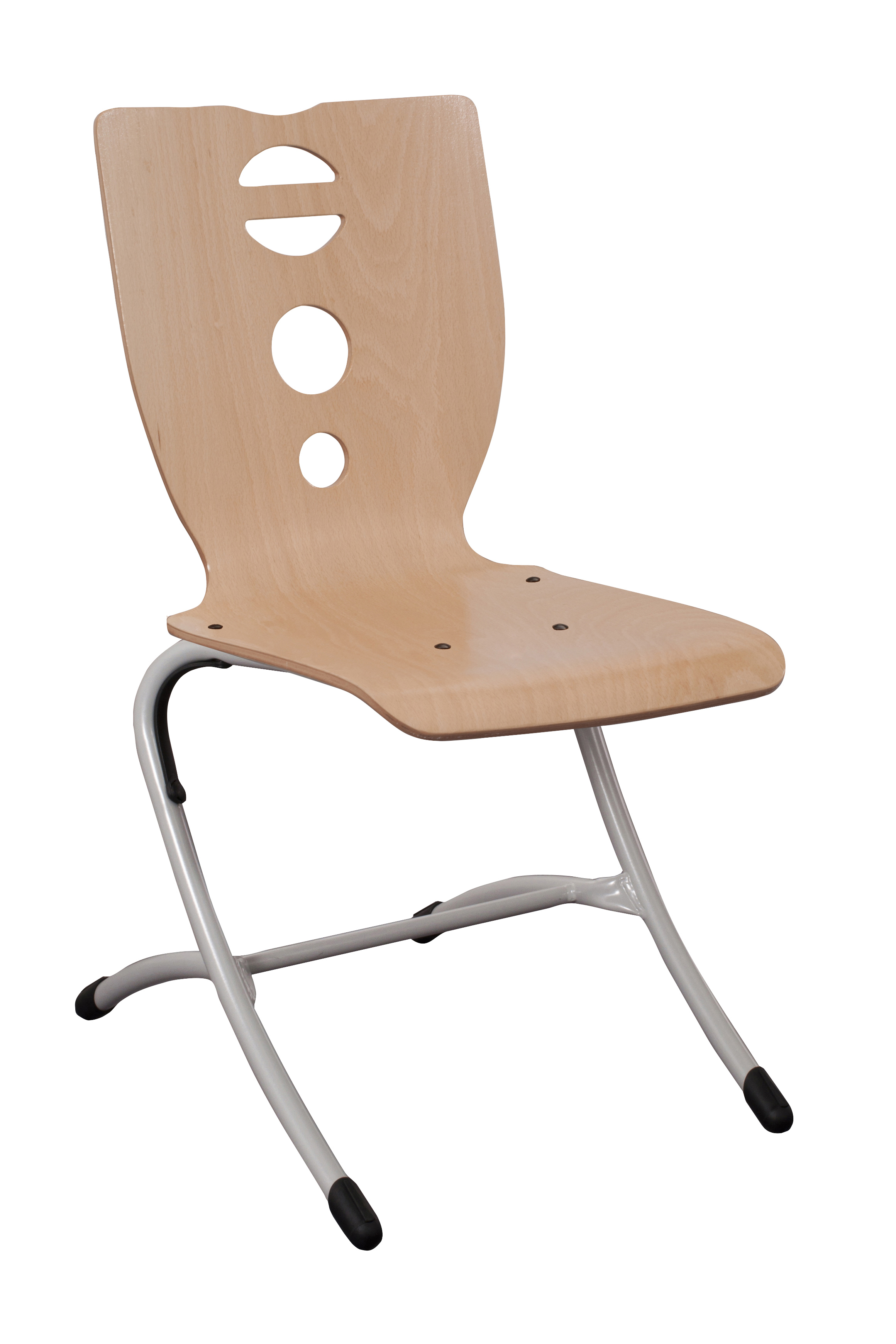 Chaise coque bois ast 4 pieds simire for Chaise 4 pieds