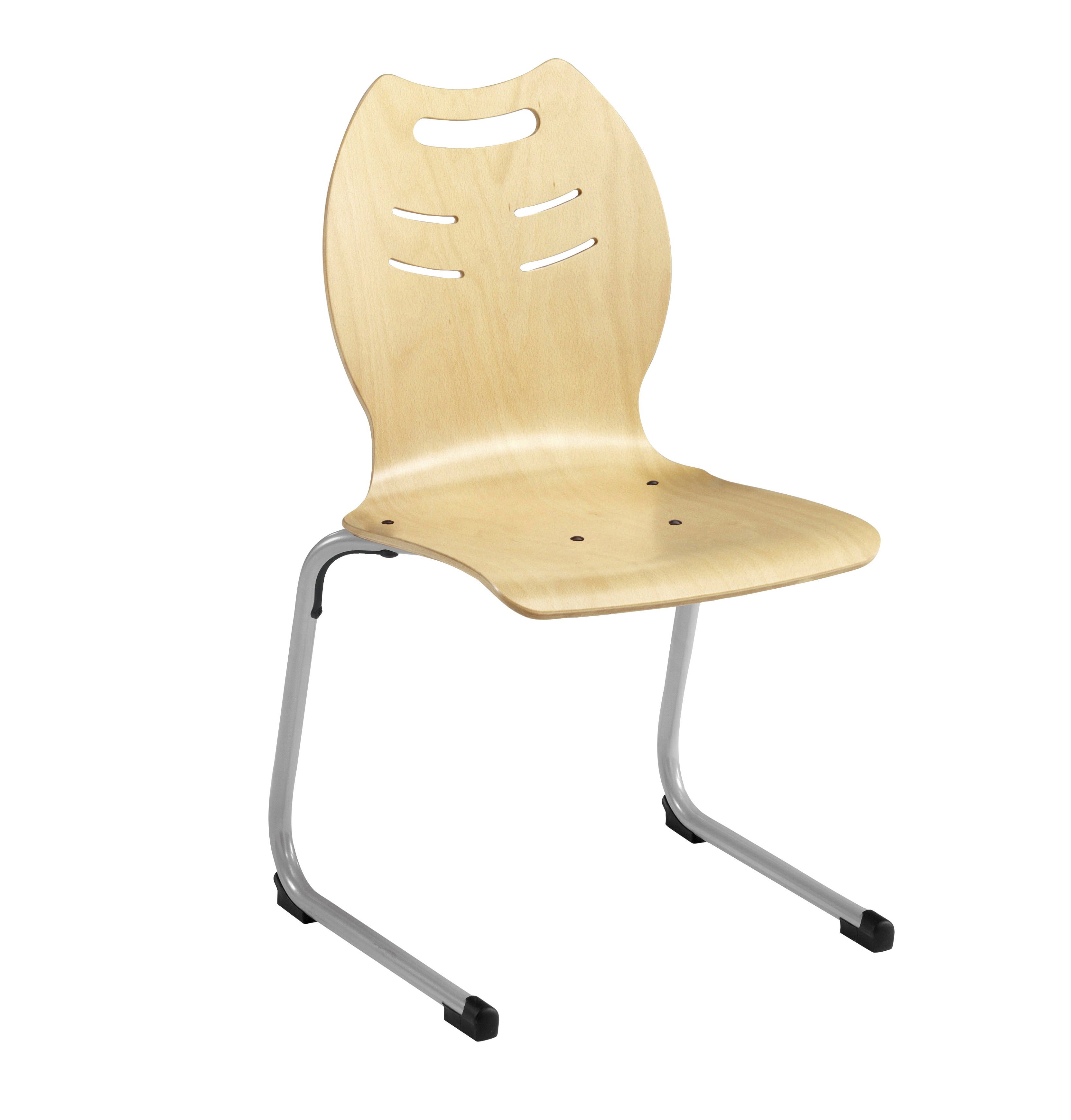 Chaise coque bois ast acier 25 simire for Chaise acier